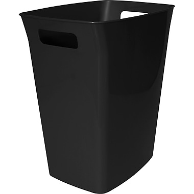 Hefty Plastic Indoor Garbage Can, 24-Quart, Black