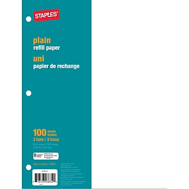Staples® - Papier de recharge, uni