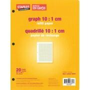 "Staples® Graph 10:1 cm Quad Refill Paper, 8-3/8"" x 10-7/8"", 20 Sheets"