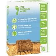 "Step Forward 80% Wheat Straw FSC-Certified Copy Paper, 21 lb., 8 1/2""x11"", 500/Ream"