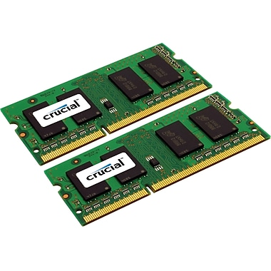Crucial 8GB (2 x 4GB) DDR3 (204-Pin SO-DIMM) DDR3 1333 (PC3 10600) Notebook Memory Module