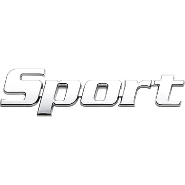 Badgez Chrome Emblems, Sport Design