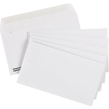 Staples® - Enveloppes blanches de première qualité n° 8, 3 5/8 po x 6 1/2 po, bte/500 - avec colle