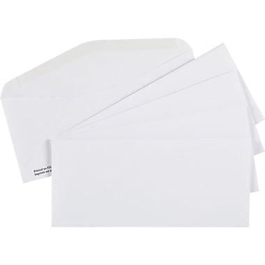 Staples® - Enveloppes blanches de première qualité n° 9, 3 7/8 po x 8 7/8 po, bte/500 - caoutchoutées