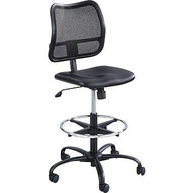 Safco ® Vue Vinyl Extended Height Armless Chair, Black