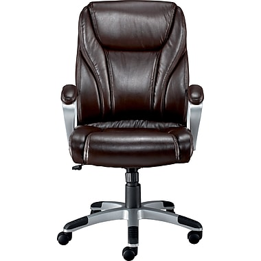 Staples Bruckner Luxura Managers Chair, Brown