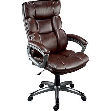 Staples Burlston Luxura Managers Chair, Brown