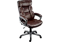 Staples Burlston® Luxura® Managers Chair, Brown