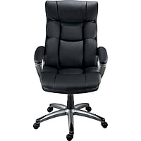 Staples 26677 Burlston Luxura Managers Chair (Black/Camel)