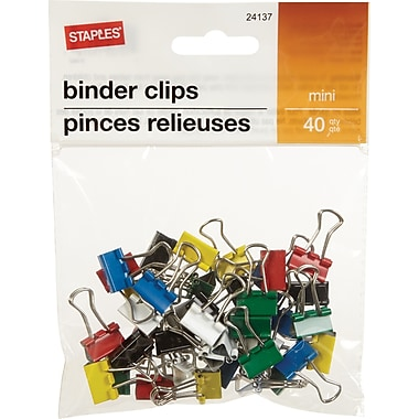 Staples® Binder Clip Mini 40 PK - Core
