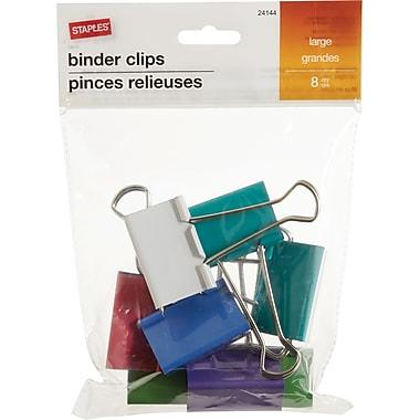 Staples Fashion Binder Clip, Large, 2