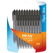Paper Mate® InkJoy® 100 RT Retractable Ballpoint Pen, Medium Point, Black Ink, 20/pk (1879090)