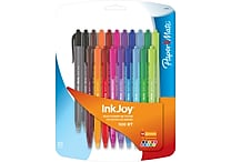 Paper Mate® InkJoy 100 RT Retractable Ballpoint Pen, Medium Point, Assorted Ink Colors, 20/pk (1879331)