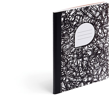 Poppin Black + White Composition Notebook, Set of 2