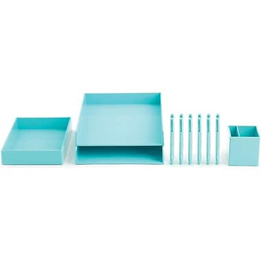 Poppin Aqua Desktop Set
