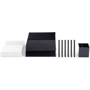 Poppin Black Desktop Set