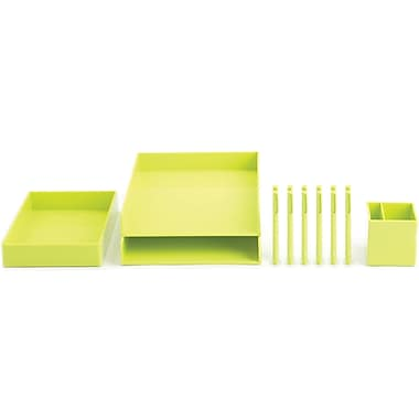 Poppin Lime Green Desktop Set