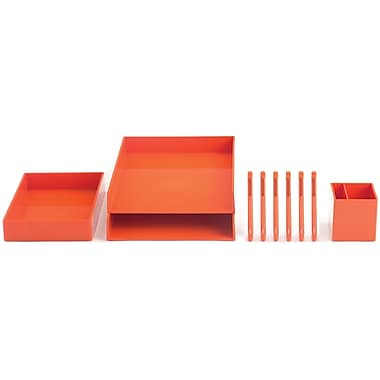 Poppin Orange Desktop Set