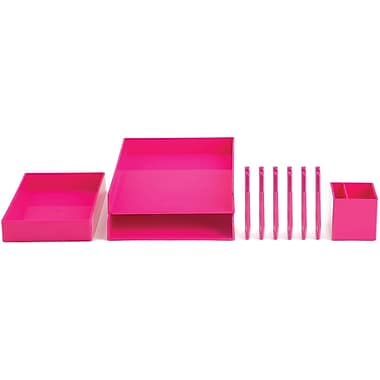 Poppin Pink Desktop Set