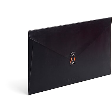 Poppin Black PU Envelope Folio