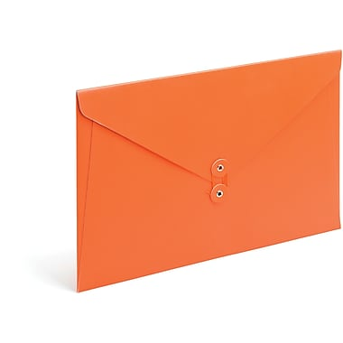 Poppin Orange PU Envelope Folio