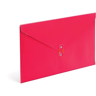 Poppin Red PU Envelope Folio
