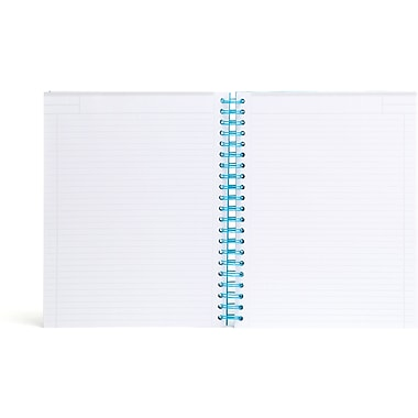 Poppin Pool Blue Large Spiral Notebook
