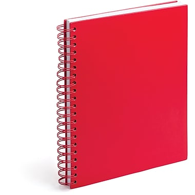 Poppin Red Large Spiral Notebook
