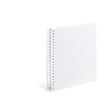 Poppin White Large Spiral Notebook