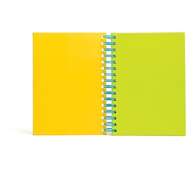 Poppin Citrus Medium Spiral Notebook, Set of 2