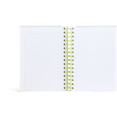 Poppin Lime Green Medium Spiral Notebook, Set of 2