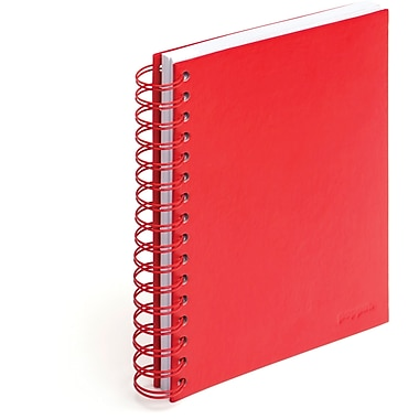 Poppin Red Medium Spiral Notebook, Set of 2
