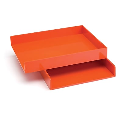 Poppin Orange Letter Trays