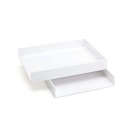 poppin letter trays set of 2 white 100212