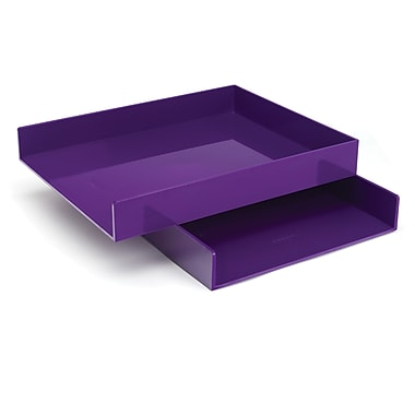 Poppin Purple Letter Trays