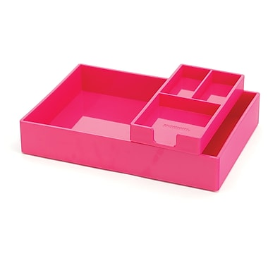 Poppin Pink Desktop Tray Set