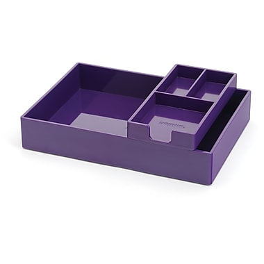 Poppin Purple Desktop Tray Set