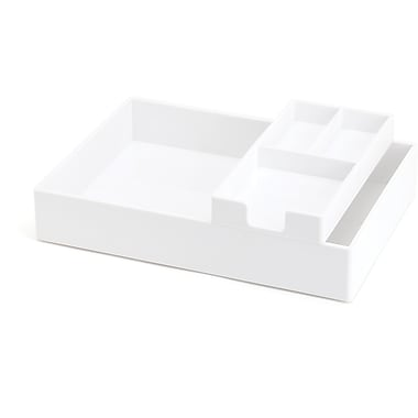 Poppin White Desktop Tray Set