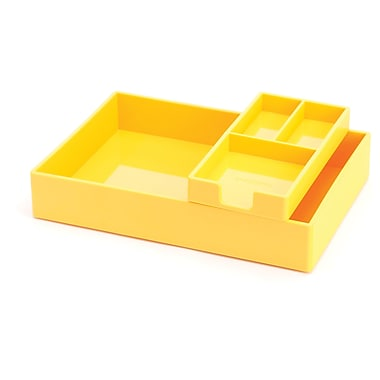 Poppin Yellow Desktop Tray Set