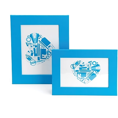 Poppin Pool Blue Desktop Frame Set