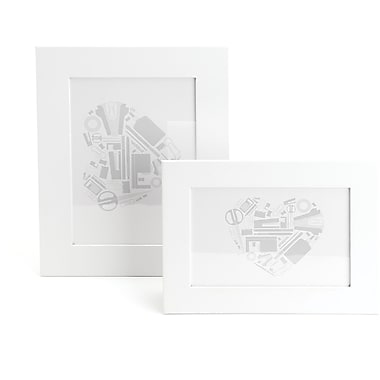 Poppin White Desktop Frame Set