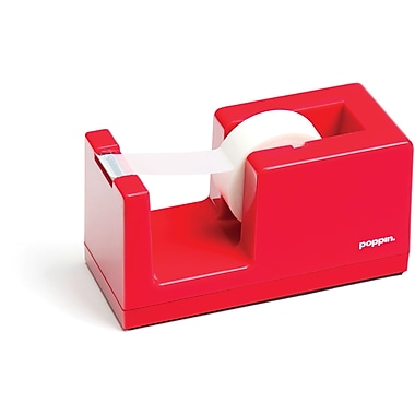Poppin Tape Dispenser, Red, (100166)