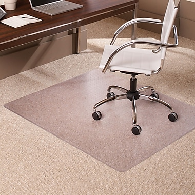 Staples Low Pile Carpet Chair Mat, Rectangular, 46in. x 60in.