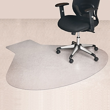 Staples 174 Medium Pile Carpet Chair Mat L Corner Desk 66