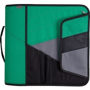 Mead® 3 Zipper Binder with Handle, Green