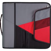 Mead® 3 Zipper Binder with Handle, Red