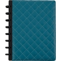 M by Staples™ Arc Customizable Patent Leather Notebook System, Teal Quilted, 6-3/4in. x 8-3/4in.