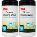 Staples Screen Wipes, 2/Pack