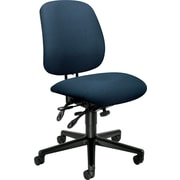 HON® 7700 Series Armless Manager's Chair with Seat Glide, Blue