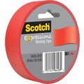 Scotch® Expressions Masking Tape, Primary Red, 1in. x 20 yds